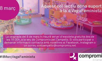 Escoleta al Campello per a donar suport a la vaga feminista